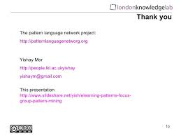 group pattern language project e learning patterns focus group pattern mining