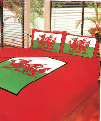 British Flag Bedding Double Bed Welsh Dragon Duvet Quilt Cover Quality Bedding Set