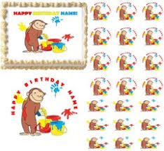curious george cake topper curious george edible party images