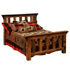 Bed Frame Post by Reclaimed Oak Post Bed Fireside Lodge Furniture The Log