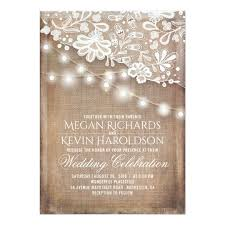 burlap wedding invitations rustic country burlap string lights lace wedding card zazzle