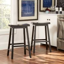 Winsome Wood Beveled Bar Stool Set Of 2 Walmart Com