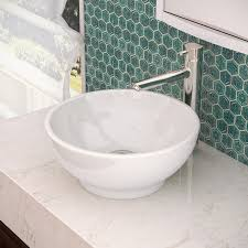 decolav 1441 cwh round above counter vitreous china bathroom sink