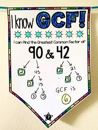 gcf lcm and prime factors pennant factors math and middle