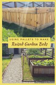 Raised Garden Beds From Pallets - build raised garden bed pallets home outdoor decoration