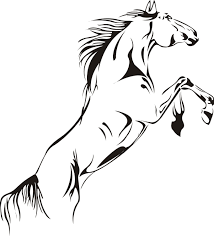 mustang horse drawing amazon com large animal run horse mustang wall decal sticker