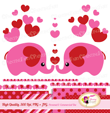 valentine u0027s day cute animals clip art set sweet pink red hearts