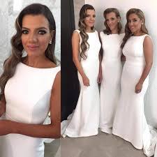 aliexpress com buy cheap satin trumpet bridesmaid gown peach