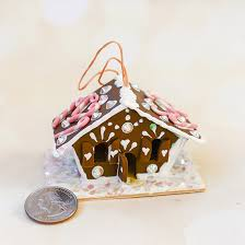 mini gingerbread house ornament family crafts