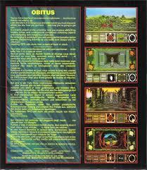 si e pour le dos obitus 1991 dos box cover mobygames