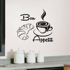 Aliexpress kup Bon Appetit Coffee Croissant Vinyl Sticker For