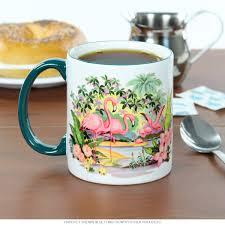 pink flamingos ceramic mug vintage coffee mugs retroplanet com