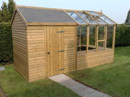Greenhouse Garden Shed bination Halbc Strikingly Tuff