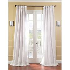 White Faux Silk Curtains Faux Silk Taffeta Curtains Orange Home Decorations Beautiful