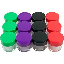 Clear Plastic Kitchen Canisters Amazon Com 12 Piece Clear Jars With Colored Lids 20 Ml Home