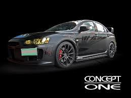 mitsubishi evo concept concept one wheels innovative technology