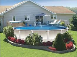 Backyard Designs With Pool Best 25 Above Ground Pool Landscaping Ideas On Pinterest