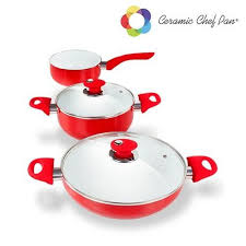 batterie de cuisine ceramique batterie de cuisine céramique chef pan 5 pièces achat vente