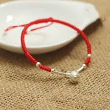 lucky red bracelet images Lucky red rope silver bell bracelet myth of eastern jpg