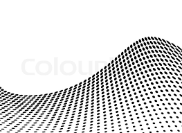 wave abstract design in stark black and white with copy space
