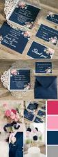 navy blue floral silver laser cut invitations ewws090 laser cut