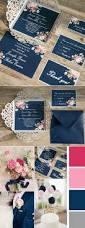 navy blue floral silver laser cut invitations ewws090 laser cut
