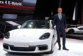 porsche ceo paris auto show electric vehicles rule
