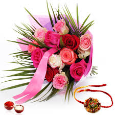 colorful roses rakhi buy colorful roses with rakhi