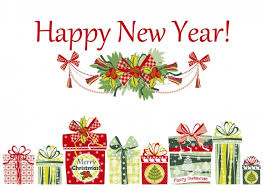 cards for happy new year happy new year card with presents vector free