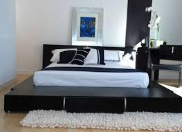 luxury black and white italian design modern style bedroom set
