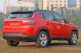 jeep compass limited red 2017 jeep compass petrol review test drive autocar india