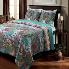 Turquoise And Purple Bedding Shop Greenland Home Fashions Nirvana Quilt Bed Cover The Home