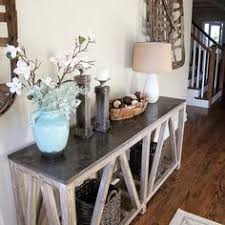 Entryway Table With Baskets Bluestone Top Entryway Table With Distressed Pine Base Put Wicker