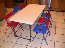 beautiful childrens folding table and chairs set with fancy