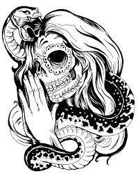 skull tattoo designs snake and sugar skull tattoo design