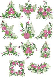 line machine embroidery designs cd 4x4 for