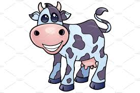 dairy cow cartoon illustrations creative market