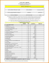 expense estimate template microsoft excel construction ptasso