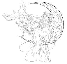 sailor cosmos lineart by hinderence on deviantart