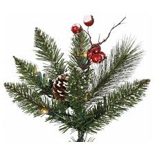 2ft pre lit snow tipped mixed pine artificial tree in