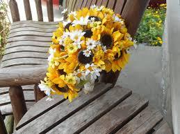 sunflower wedding bouquet cascading sunflower silk bridal bouquet sunflower wedding