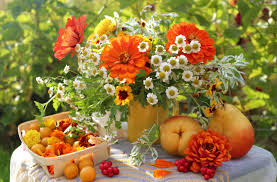 Summer Garden Quotes - bouquet table still life summer garden wallpaper 3200x2105