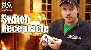 how to wire and install a switch receptacle youtube