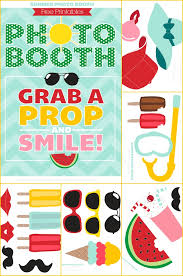 picture props summer photo booth props free printable photo booth props