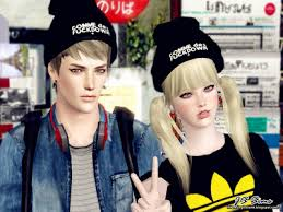 sims 3 men custom content sims 3 male female hair stylish beanie custom content download