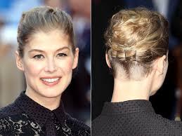 hair undercut female lady nape rosamund pike shaved nape undercut hairstyle