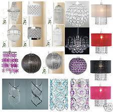 Beaded Pendant Light Shade Crystal Droplets Ceiling Lights U0026 Chandeliers Ebay