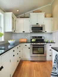 White Cabinet Kitchen Design Chic Things We Love Granite Countertops Black Handles