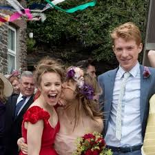 wedding dress cast see how mcadams wear a wedding dress in about time