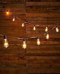 edison bulb patio lights amazon com cvl 20 ct edison bulb light strand home kitchen